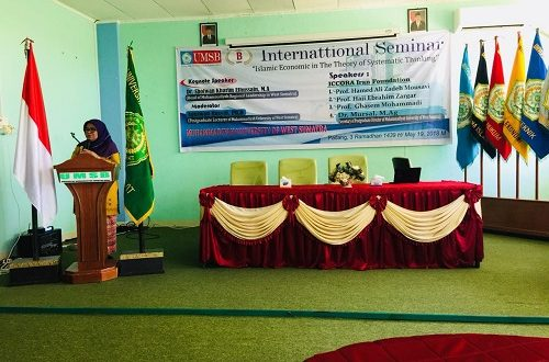 Seminar on the Systematic Approach towards Islamic Economy, Muhammadiyah Uni. West Sumatra, Indonesia