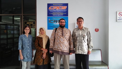 Meeting with a number of UGM's Lectures, Yogyakarta